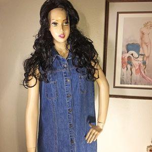 Sonoma Dresses - Vintage Sonoma Denim Jean Maxi Dress Size Large